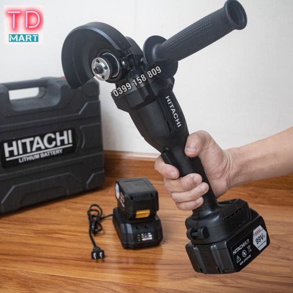 Máy mài, máy cắt cầm tay dùng pin HITACHI 99V 2 pin không chổi than, lõi đồng tặng đá cắt và đá mài