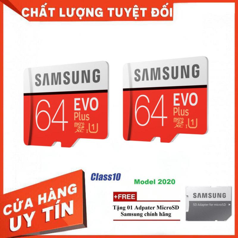 Combo 2 Thẻ Nhớ MicroSDXC Samsung EVO Plus U1 64GB 100MB/s MB-MC64H 2020 [Thanh Lý]  - Bảo Hành 5 Năm