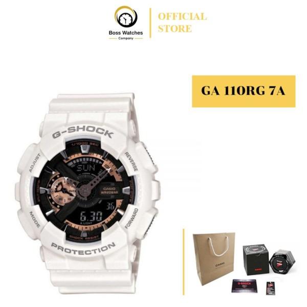 Nơi bán ĐỒNG HỒ NAM CASIO G SHOCK GA 110RG 7A VỎ TRẮNG MẶT VÀNG ĐỒNG