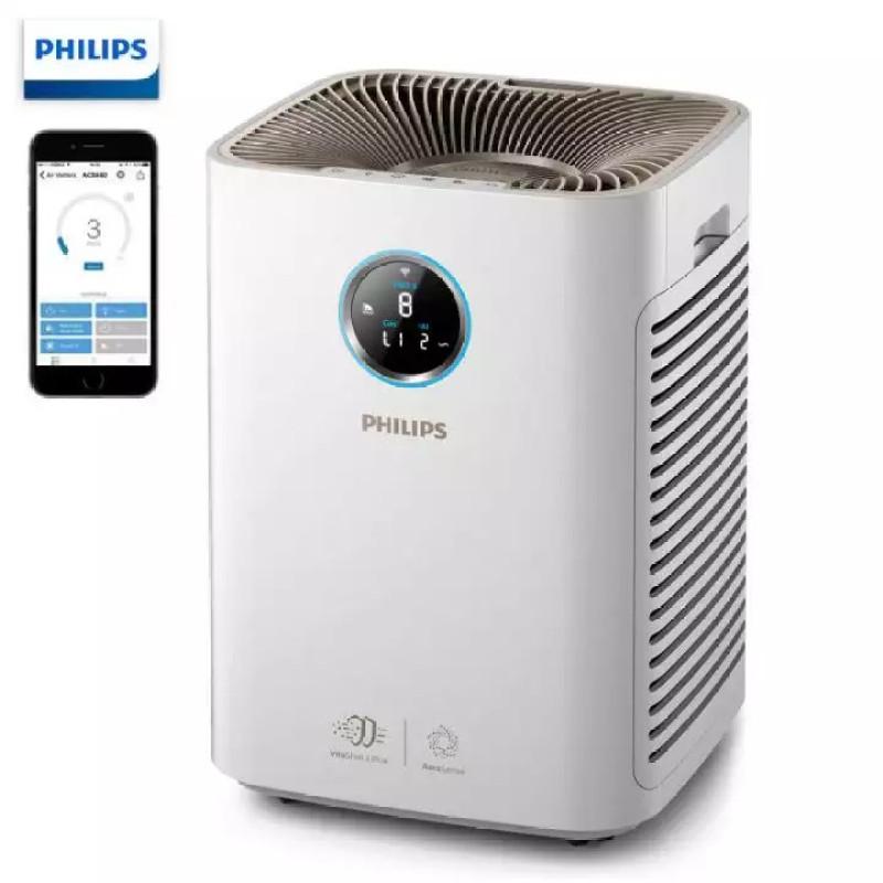 Máy lọc không khí kháng khuẩn trong gia đình thương hiệu Philips AC5668/00 tích hợp Wifi công suất 65W