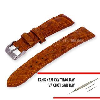 Dây đồng hồ nam da cá sấu thật size 20mm - Tiktakus thumbnail