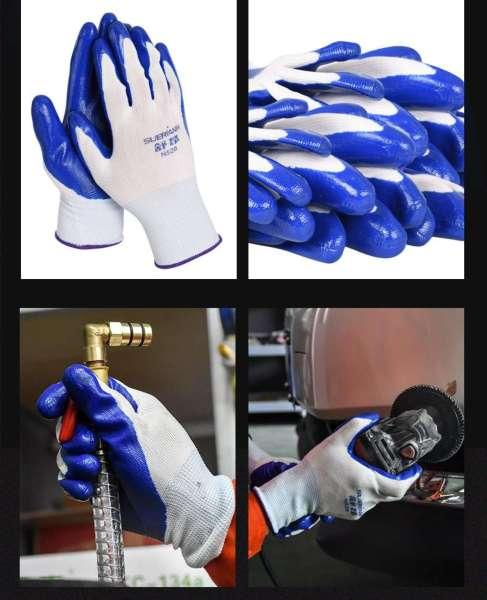 Combo 24 đôi găng tay bảo hộ phủ bàn sơn PU dành cho xây dựng, cơ khí