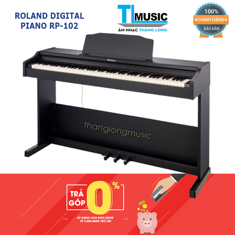 Siêu Tiết Kiệm Khi Mua ( Hỗ Trợ Trả Góp 0%) Piano Điện Tử Roland RP102 Mới 2019 - Roland RP-102 Kết Nối Bluetooth