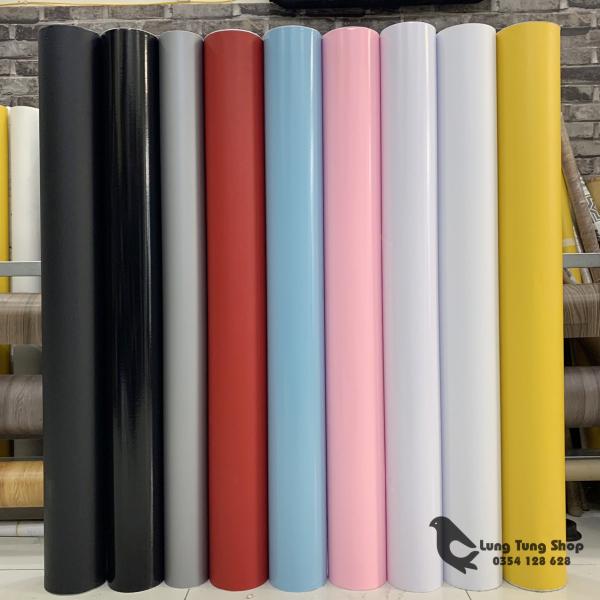 [HCM][ Khổ 12m - Loại nhám và bóng ] Decal màu - Giấy dán tường  bàn  tủ có sẵn keo màu trơn