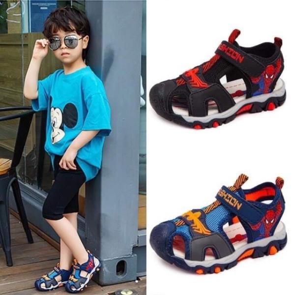 518# Sandal Spiderman kiểu bít mũi cho bé từ 2.5 - 10 tuổi - Giày sandal hoạt hình khỏe khoắn, Dép sandal người nhện năng động, quà tặng cho bé, hàng mới 2020