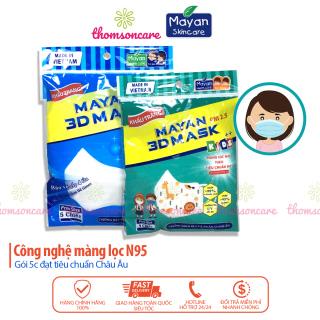 Khẩu trang Mayan 3D Mask Gói 5 chiếc cho bé và người lớn, có 4 lớp y tế kháng khuẩn thumbnail