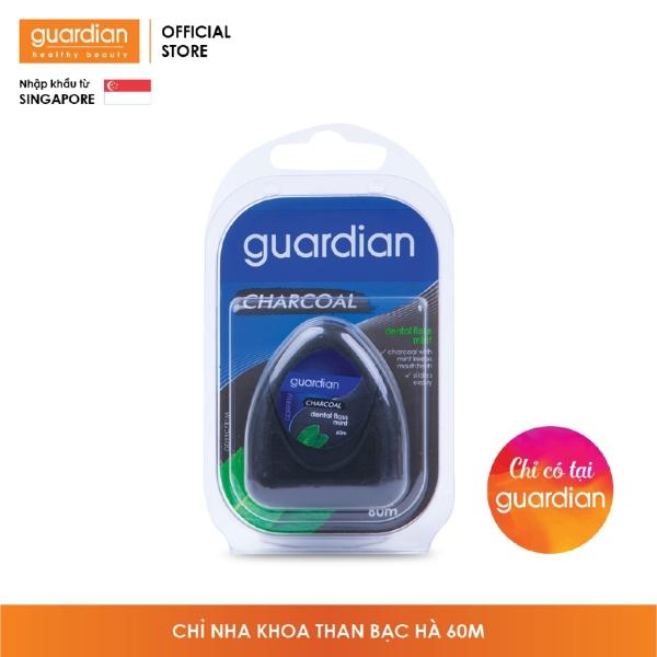 Chỉ nha khoa Guardian Than hoạt tính – hương Bạc Hà – 60m