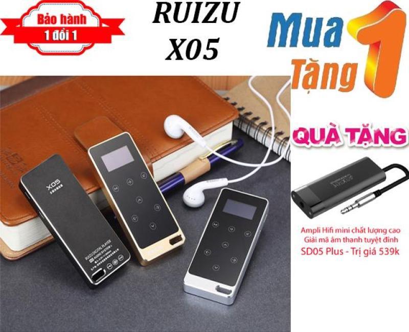 Máy nghe nhạc MP3 Lossless RUIZU X05 + Tặng Ampli HiFi cao cấp dành cho máy nghe nhạc SD05 Plus - Máy nghe nhạc pin trâu - chất lượng cao
