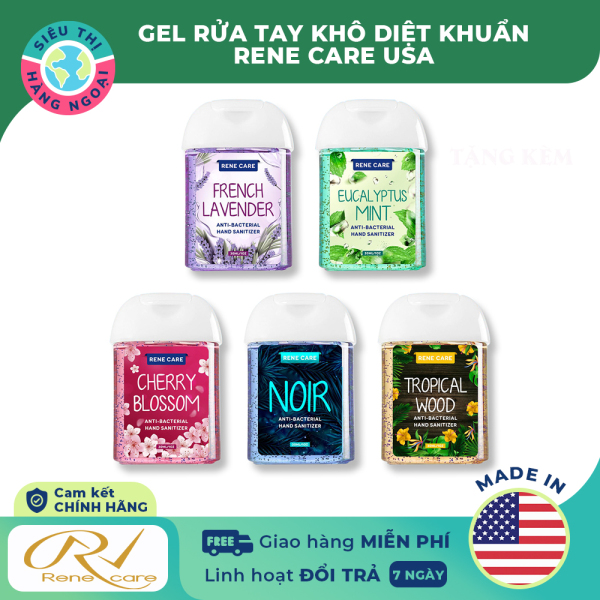 [CHÍNH HÃNG] Gel rửa tay khô kháng khuẩn Rene Care USA 30ml [an toàn; tiện dụng] Hàng Mỹ (được bán bởi Siêu Thị Hàng Ngoại giá rẻ