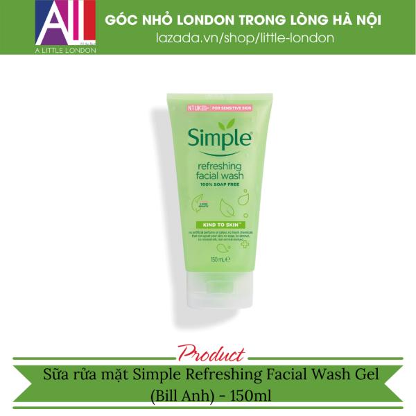Sữa rửa mặt Simple Refreshing Facial Wash Gel (Bill Anh) giá rẻ