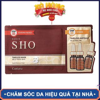 Mặt nạ dưỡng Da và ngăn ngừa lão hóa 2 bước, RODIN SHO TIMELESS AMPOULE MASK, 28.5 ml gói, Bestke thumbnail