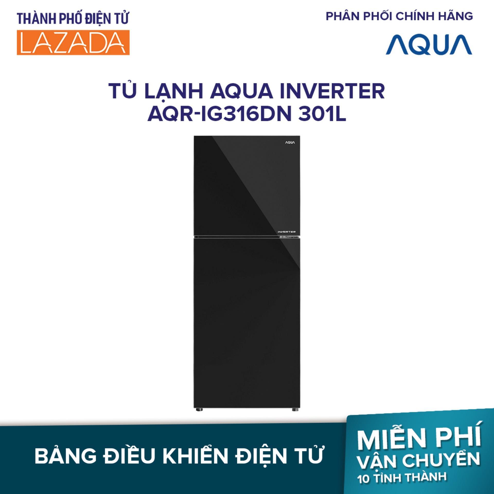 Tủ lạnh Aqua Inverter AQR-IG316DN 301L - Hàng phân phối chính hãng