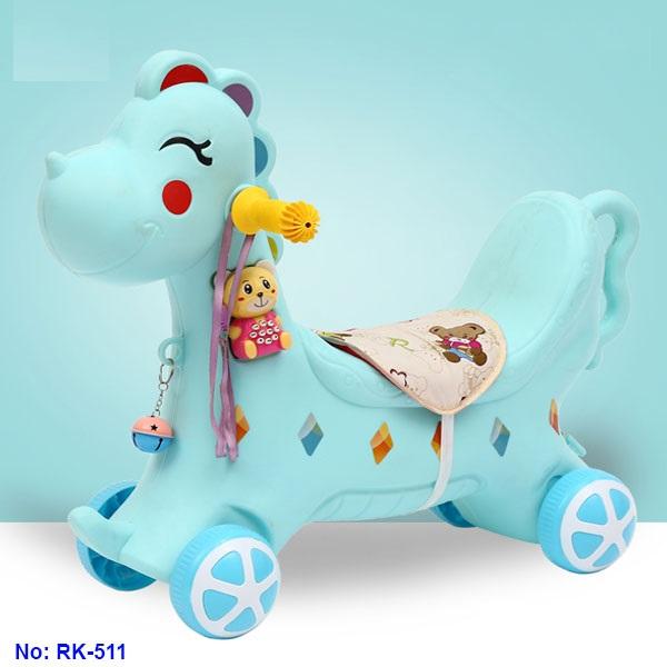 Ngựa chòi chân kết hợp bập bênh có nhạc cho bé RK-511 - xe tập đi, xe thăng bằng, bập bênh cho bé