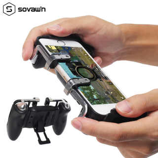 Tay cầm chơi game K21 PUBG kèm nút bấm cho game PUBG, ROS, Free Fire..gắn điện thoại tiện lợi - Tay cầm chơi game k21 - Tay cầm chơi game điện thoại- Tay cầm chơi game 2 ngón- Máy chơi gamer cầm tay [Thao2] Dũng Dũng 1 thumbnail