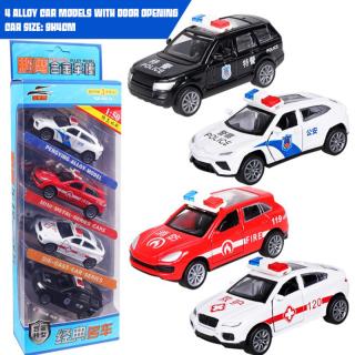 CNUH MALL Bộ đồ chơi xe buýt 4 cái Xe buýt hợp kim Bộ mô phỏng xe buýt mô phỏng 1 64 Warrior Mini Car thumbnail