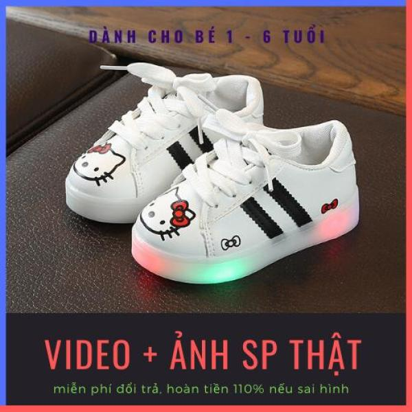 Giá bán Giày bé gái hoạt tiết hoạt hình có đèn led lấp lánh, chống trơn trượt tốt dành cho bé 1-6 tuổi