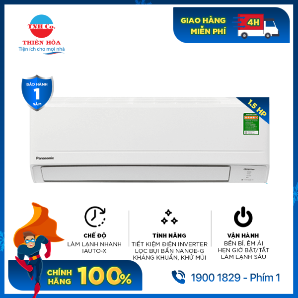 Bảng giá Máy lạnh Panasonic inverter 1.5 HP CU/CS-PU12WKH-8M