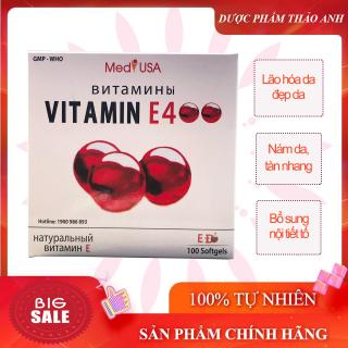 Viên uống Vitamin E400- E đỏ- giúp đẹp da, sáng da, hạn chế lão hóa da- Hộp 100 viên HSD 2024 thumbnail