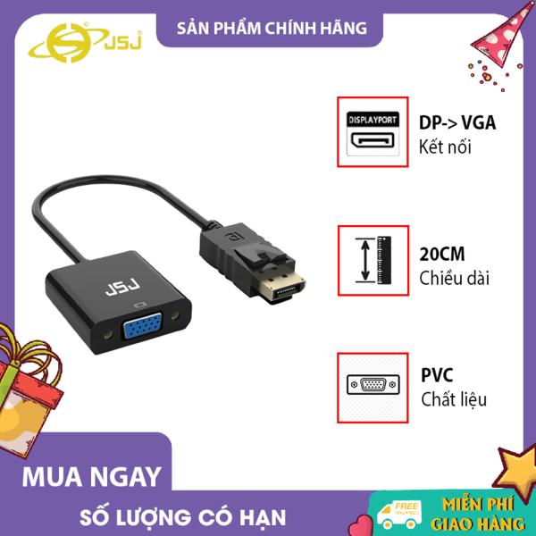 Bảng giá Cáp chuyển đổi cổng HDMI sang cổng VGA JSJ HV0135 sử dụng vỏ nhựa ABS chống mài mòn và chống oxy hóa truyền tải ổn định hơn nhiều lớp bảo vệ chất lượng hình ảnh rõ nét hơn được trang bị cổng cấp nguồn độc lập Phong V