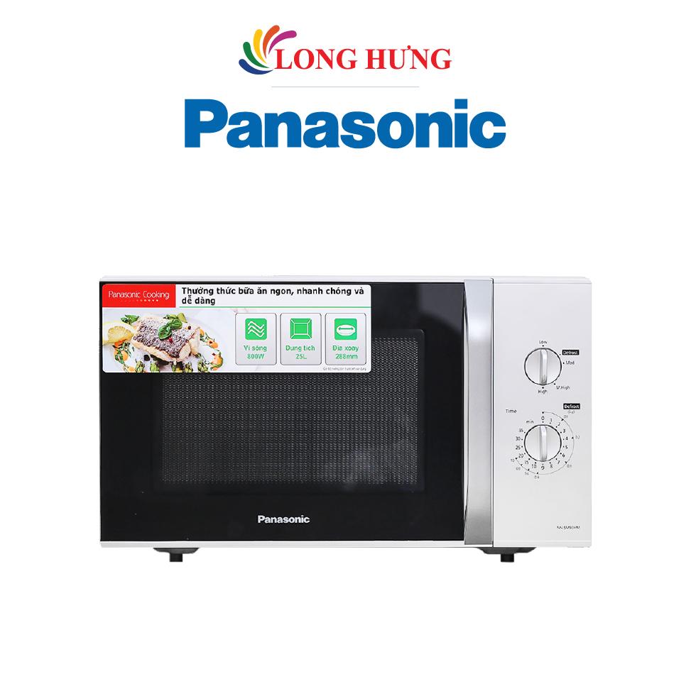 Lò vi sóng Panasonic 25 lít NN-SM33HMYUE - Hàng chính hãng - Công suất 800W, đa chức năng nấu nướng, rã đông, điều khiển bằng núm vặn, hẹn giờ