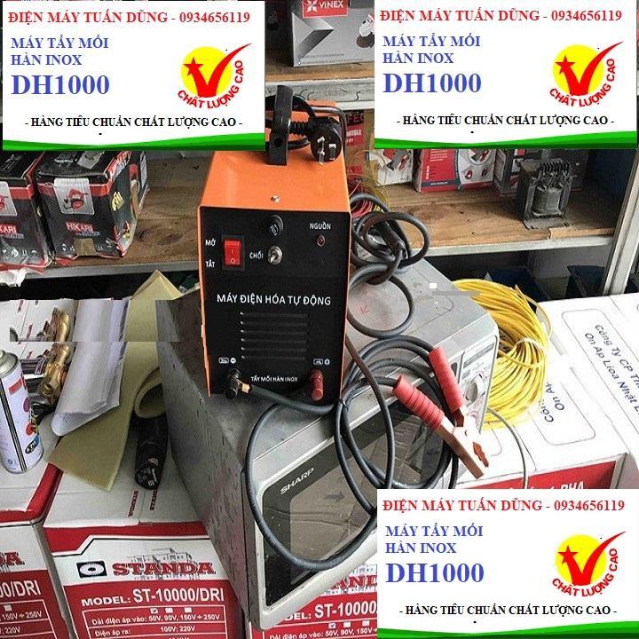 Máy tẩy mối hàn inox DH1000, hàng chất lượng cao, mối hàn inox bóng loáng sau vài giây