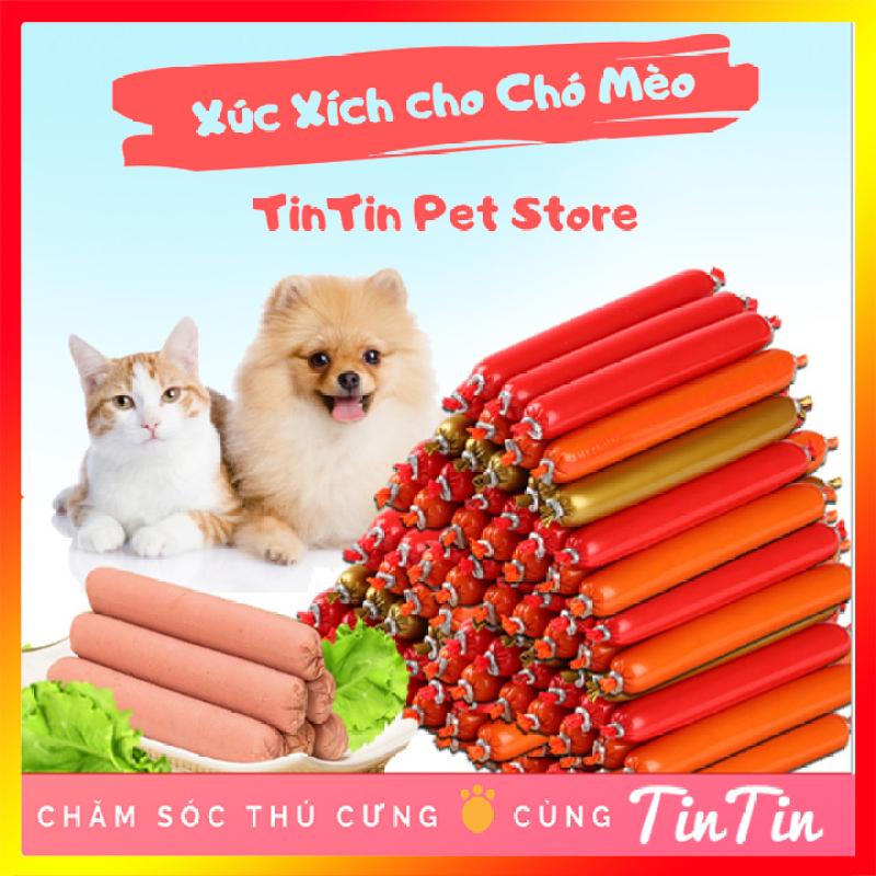 Gói 6 cây Xúc Xích Dinh Dưỡng Ăn Liền Cho Chó Mèo -  100 Gram #Tintin Pet Store