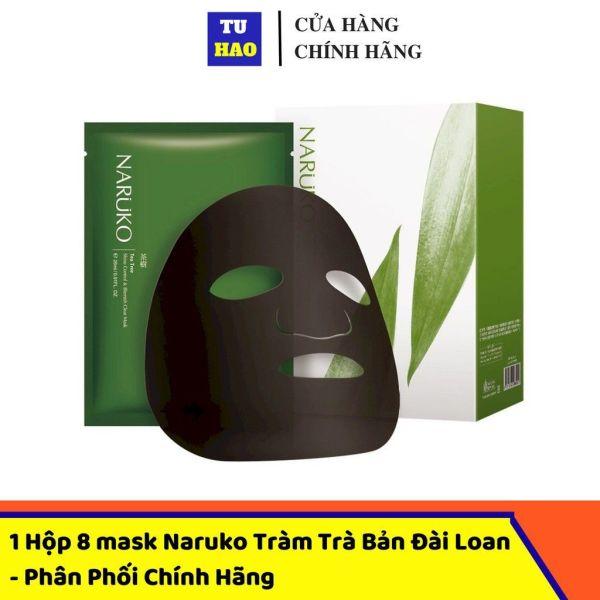 [ CHÍNH HÃNG BẢN ĐÀI ] Naruko mặt nạ trà tràm kiểm soát dầu và mụn hộp 8 miếng - Naruko Tea Tree Shine Control and Blemish Clear Mask 8pcs box