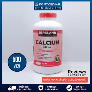 Viên Uống Bổ Sung Canxi Và Vitamin D3 Calcium 600mg + D3, 500 Viên Của Kirkland Giảm Tình Trạng Viêm Khớp, Thoái Hóa Khớp Chống Loãng Xương Của Mỹ thumbnail