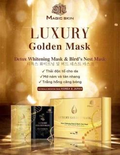 [01 GÓI LẺ] mặt nạ Ủ YẾN THẢI ĐỘC CẤY TRẮNG Luxury Golden Mask Magic Skin NÂNG TÔNG TRẮNG HỒNG TRINGANSHOP thumbnail