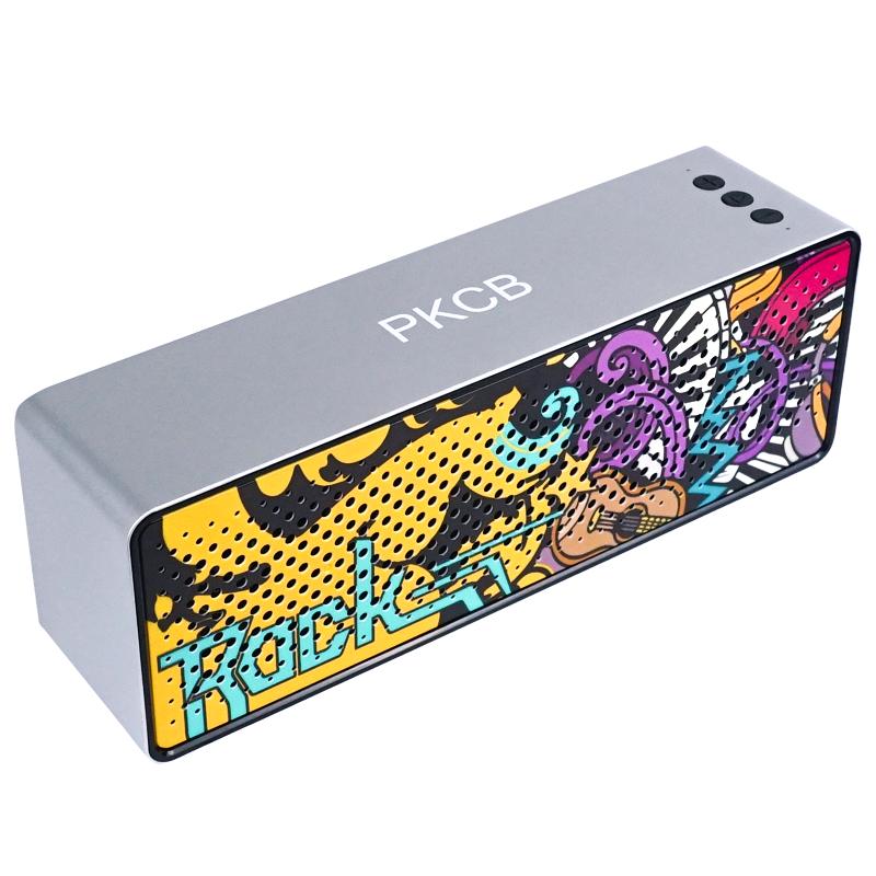 [VOUCHER 7%]Loa bluetooth không dây nghệ thuật graffiti công suất lớn loa kép khuếch đại âm thanh PKCB - Hàng chính hãng