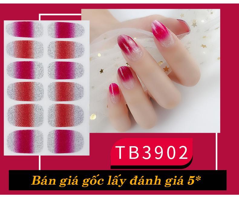 Set 12 miếng dán móng tay Nail Sticker cao cấp cao cấp