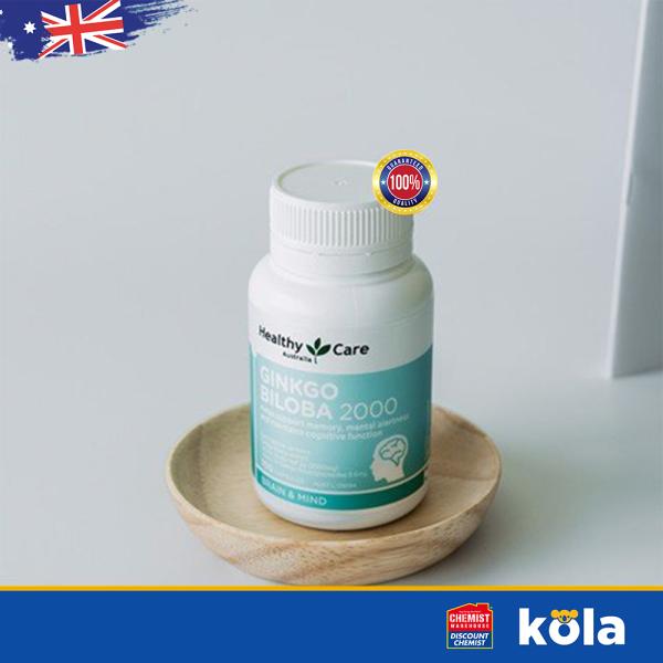 Bổ não Úc Healthy Care Ginkgo Biloba 2000mg 100 viên