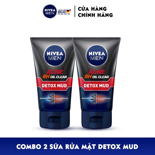Bộ đôi Sữa Rửa Mặt NIVEA MEN Detox Mud Bùn Khoáng Giúp Giảm Mụn & Hư Tổn Da (100G) - 83940