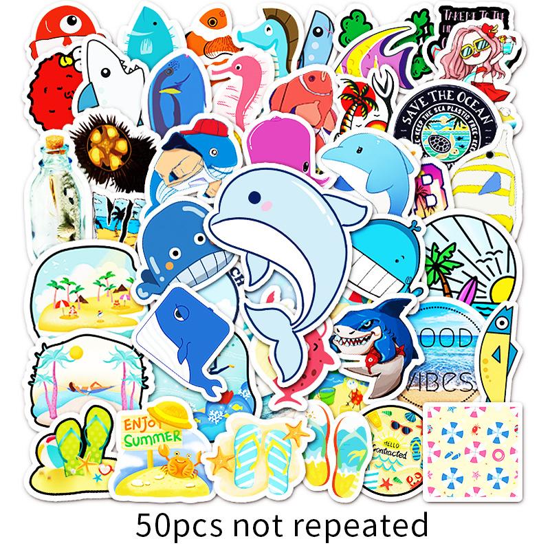 50SeriesDIYPhim Hoạt Hình Dán Trang Trí Laptop Máy Tính Xe Hành Lý Graffiti Dán Tủ Lạnh Dán Xe Máy thumbnail