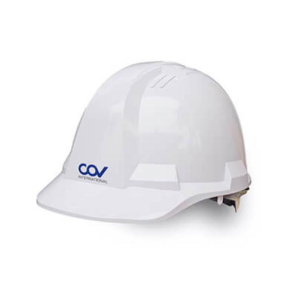 Mũ bảo hộ lao đông COV màu trắng