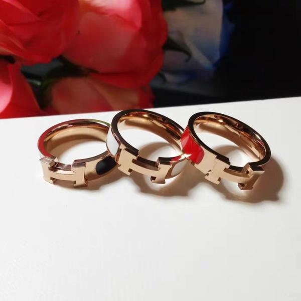 Nhẫn nữ đẹp nhẫn titan không han gỉ - mẫu chữ h, thiết kế tinh xảo, sang trọng và thời thượng, phù hợp với mọi loại trang phục