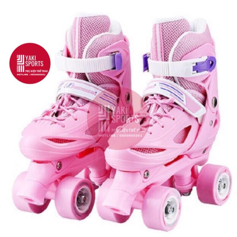 Mua Giày trượt Patin Hai Hàng 4 bánh dễ thăng bằng cho bé (CHỈNH ĐƯỢC SIZE). Giày trượt patin 2 hàng