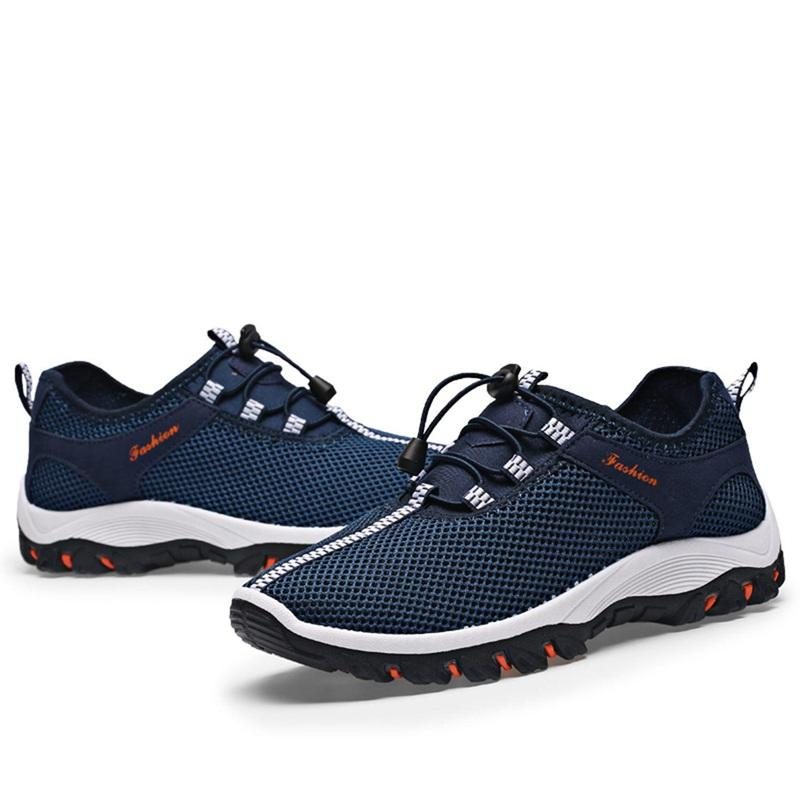 Bảng giá Spring Summer Casual Shoes For Men New Arrival Ventilation Fashion Sneakers Outdoors Tourism Comfortable Breathable Mens Sneakers Men Shoes Dark Blue 43