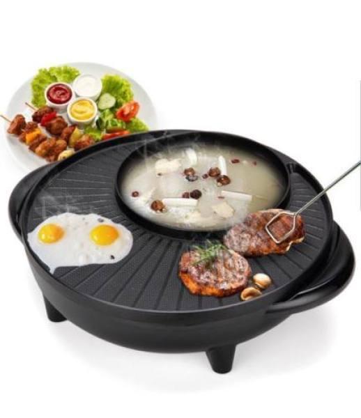 Nồi lẩu nướng điện 2 trong 1 đa năng Hàn Quốc BH 1 tháng - Nồi lẩu kiêm bếp nướng điện Cao cấp nồi vĩ nướng rộng tiện dụng