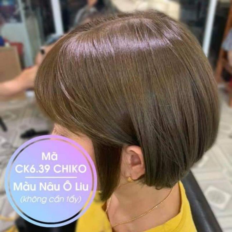 Thuốc nhuộm tóc màu Nâu Oliu + kèm trợ nhuộm cao cấp