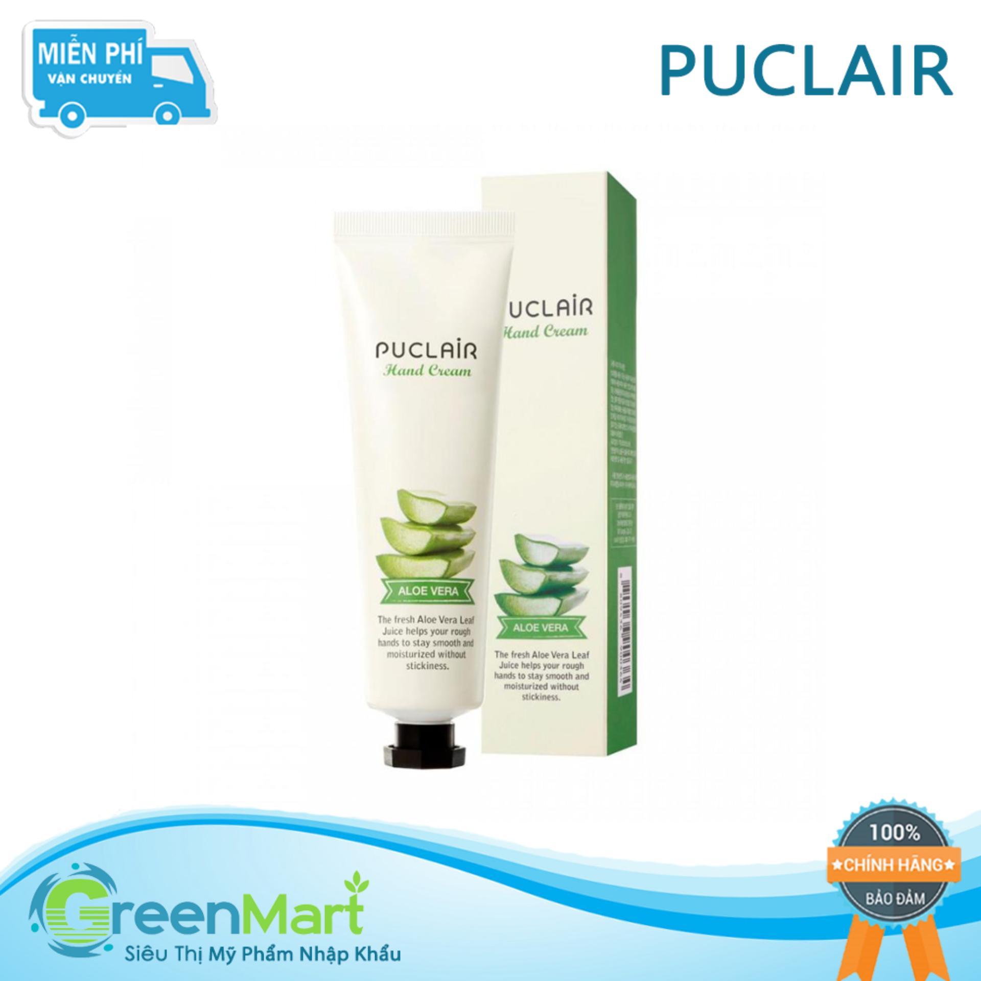Kem dưỡng tay trị khô nẻ Hàn Quốc Puclair Hand Cream 50ml - Lô hội chính hãng