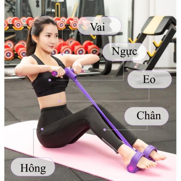 Dây kéo lưng, Dây tập thể dục, tập gym, tập cơ bụng thông minh điều chỉnh lực kéo,Dụng cụ hỗ trợ tập yoga tại nhà
