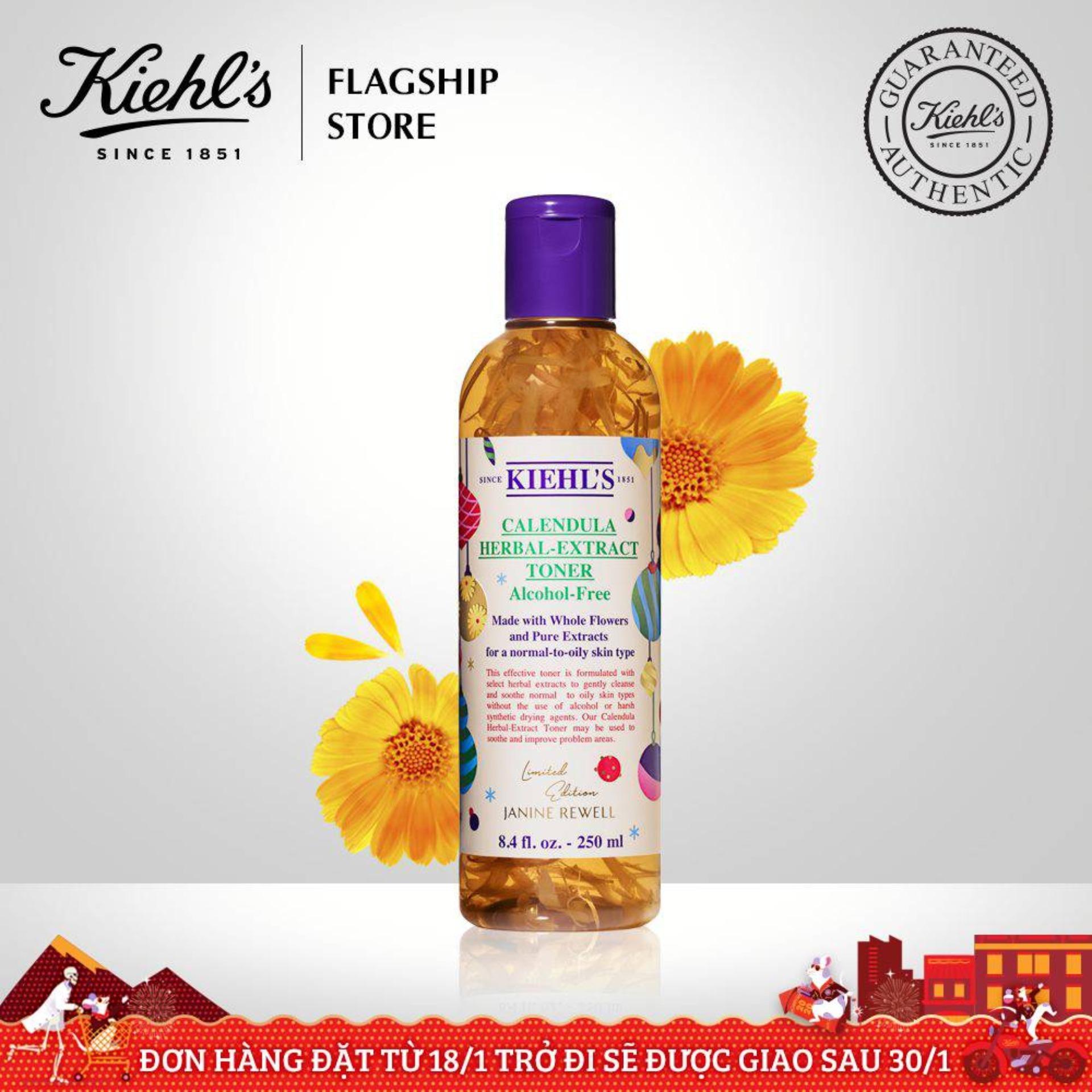 [Phiên Bản Mùa Lễ Hội] Toner Hoa Cúc Calendula Herbal Extract Alcohol-Free Kiehls 250ml tốt nhất