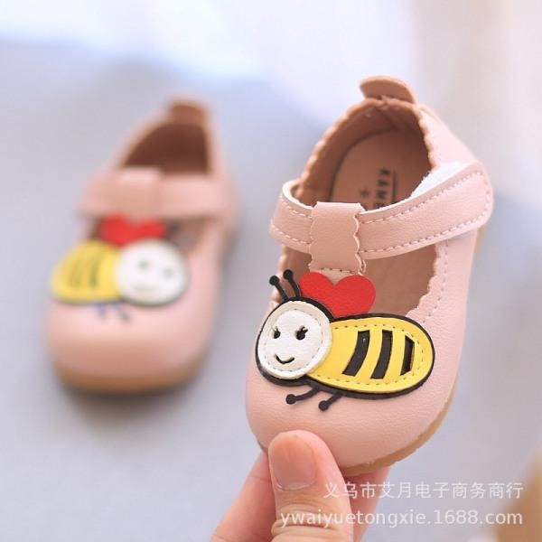 Giá bán Giày tập đi cho bé gái đế mềm êm chân có kèn hình ong dễ thương cho bé 0-2 tuổi - NG3