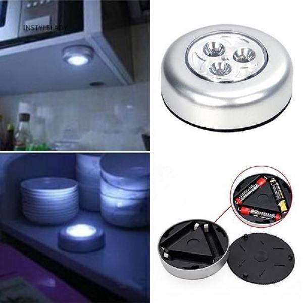 [Sale] Đèn LED chạm (4 bóng) - dán tường, tủ quần áo, đầu gường, tủ bếp, trần nhà ... chạy Pin AAA siêu sáng