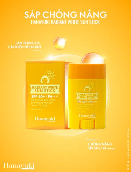 [Chính hãng] Sáp Chống Nắng Hanayuki – Radiant White Sun Stick 22gr