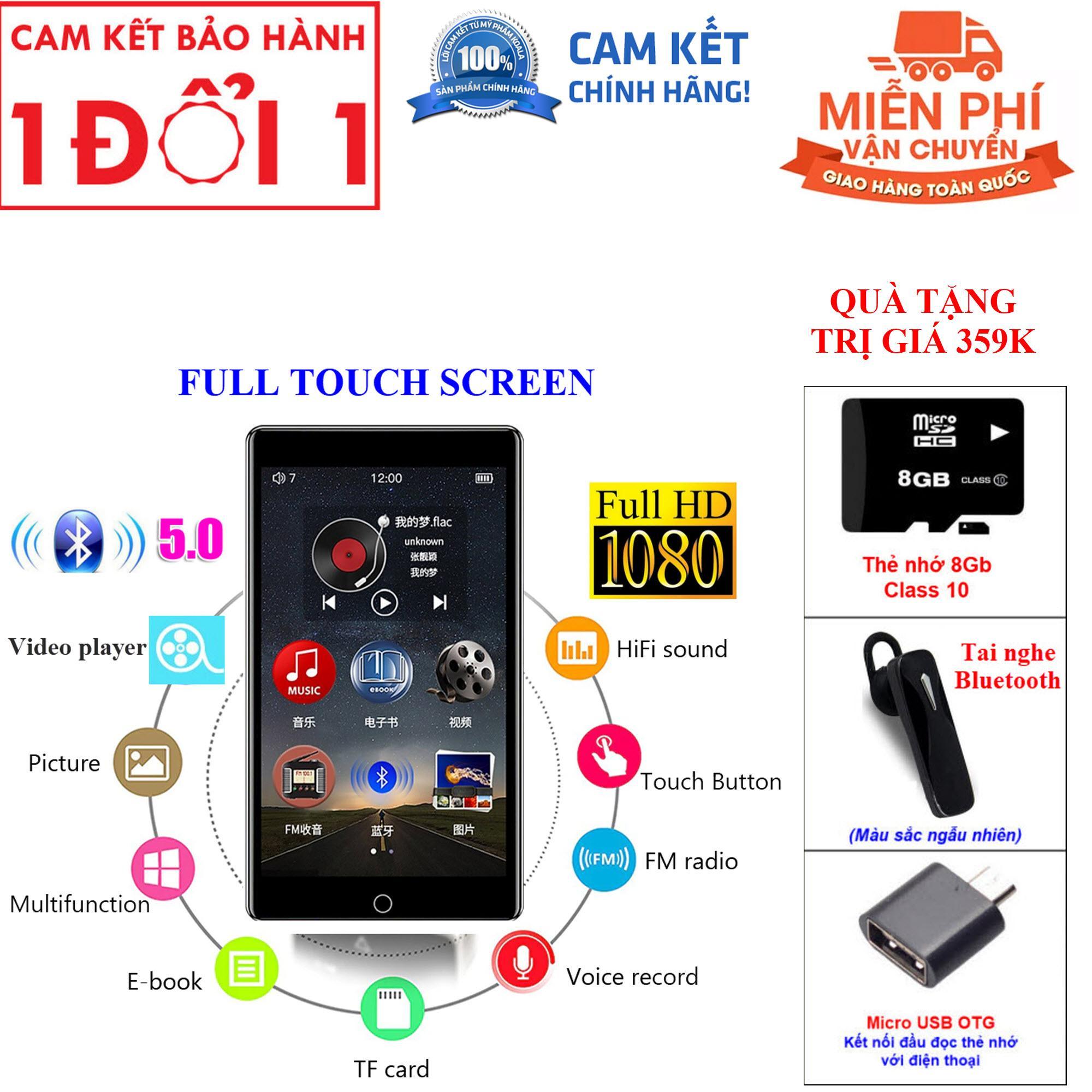Quà Tặng Trị Giá 359K - Máy Nghe Nhạc Lossless MP3 MP4 Bluetooth Màn Hình Cảm Ứng 3 inch Ruizu H1 Bộ Nhớ Trong 8GB Cao Cấp - Máy nghe nhạc MP3 RUIZU H1 Màn hình cảm ứng Kết nối Bluetooth Dung lượng 8GB Thu âm Nghe ebook