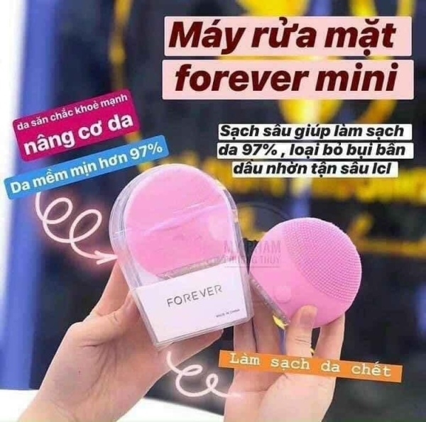 Máy Rửa Mặt Forever Lina Mini Fullbox Làm Sạch Sâu, Massage Giúp Da Hết Bụi Bẩn, Tế Bào Chết nhập khẩu