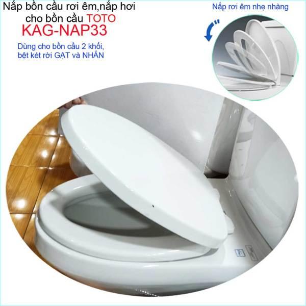 Bảng giá [HCM]Nắp cho bàn cầu Toto KAG-NAP33 rơi êm nắp hơi bồn cầu 2 khối nắp đậy bồn cầu nhựa trắng dày-sáng bóng