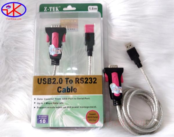 Giá Dây cáp USB to RS232 (USB to com) dài 1.8m Z-TEK ZE533A